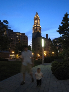 Boston's Custom House as viewed from the Greenway