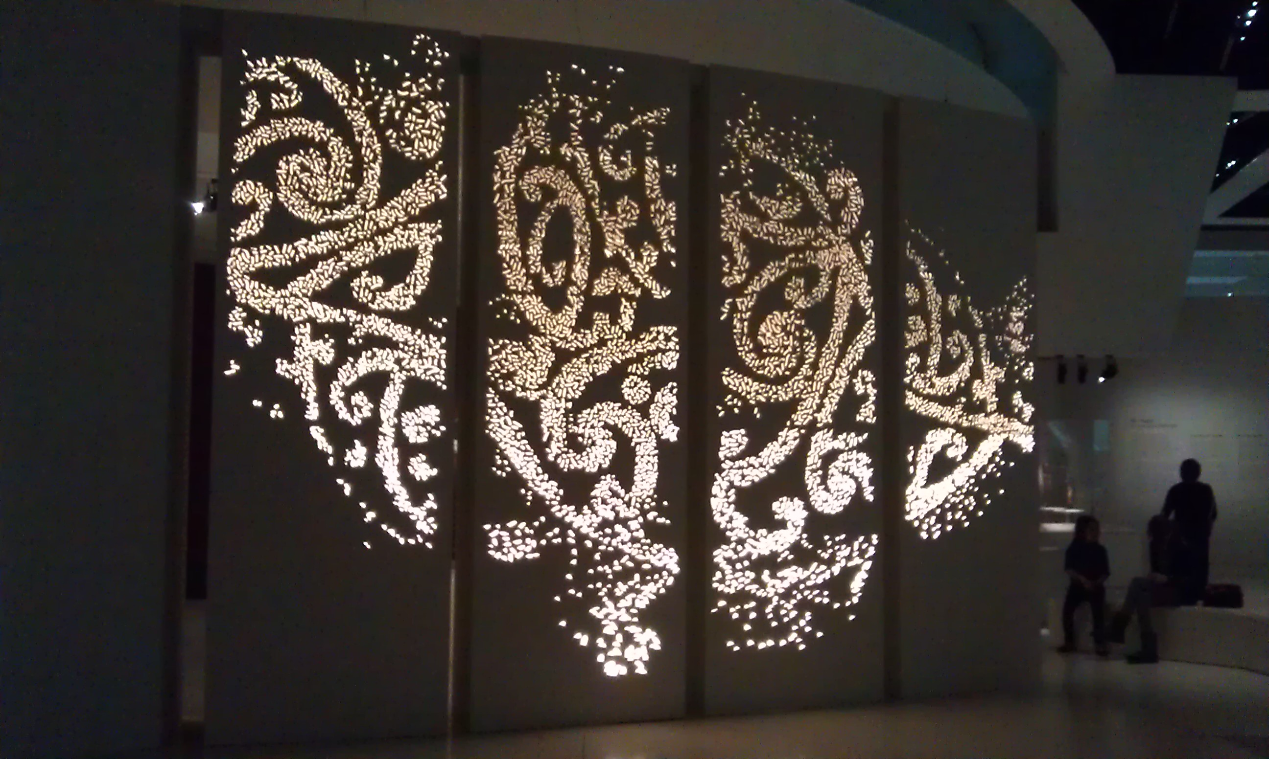 Quai Branly Museum Maori Exhibition Lighting Wall Lucept