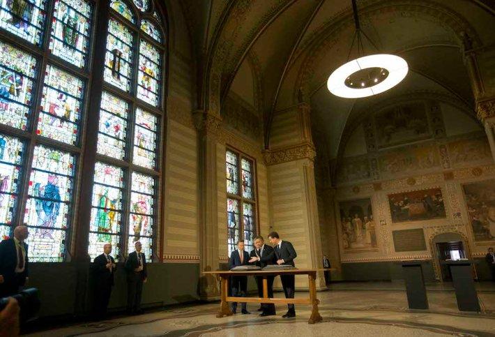 Barack Obama, Wim Pijbes, Mark Rutte,  Eberhard van der Laan
