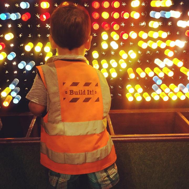 Giant Lite Brite at Stepping Stones Museum