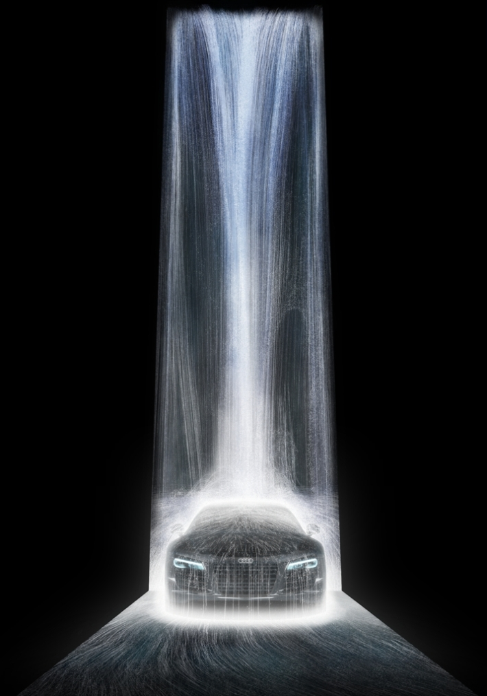 teamlab The-Waterfall-on-Audi-R8